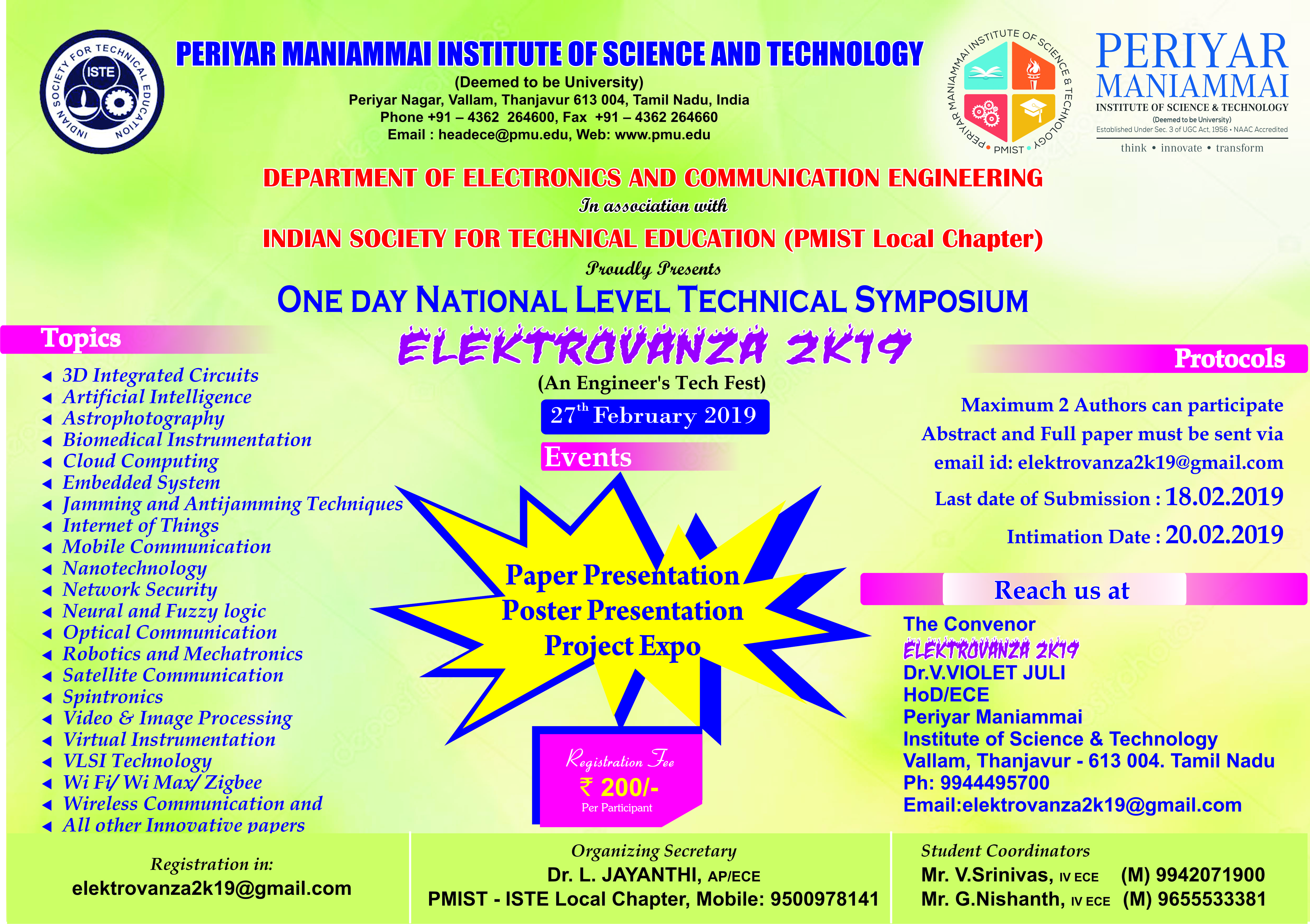 Periyar Maniammai Institute of Science & Technology | Think