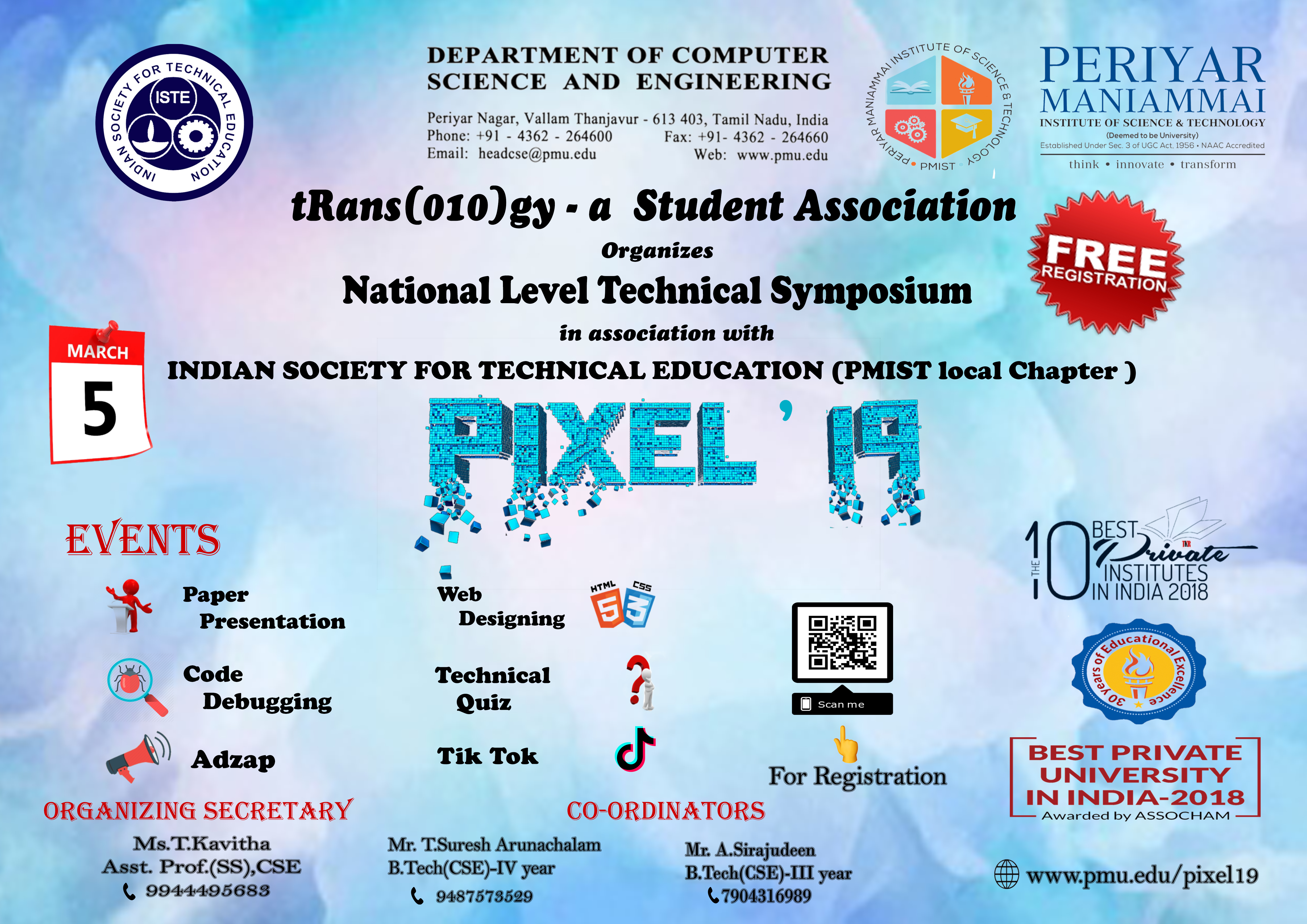 Periyar Maniammai Institute Of Science Amp Technology Think Innovate Transform